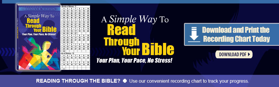 Simple Way To Read Your Bible - Recording Chart
